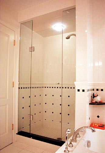 Frameless Shower Door With In Line Panel Artistcraft Com