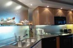 Kitchen Backsplash with Frosted Glass on Mirror