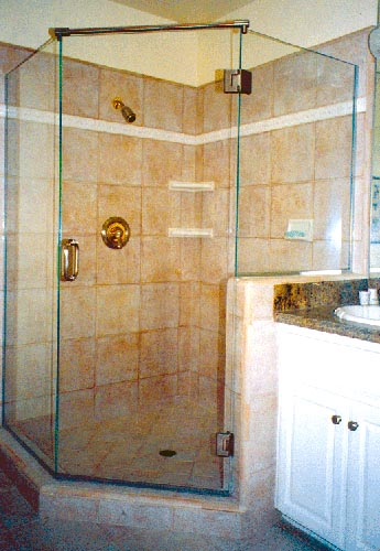 Frameless Neo Angled Shower With Header Rail Artistcraft Com