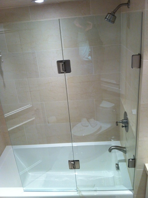 Half Glass Shower Door For Bathtub