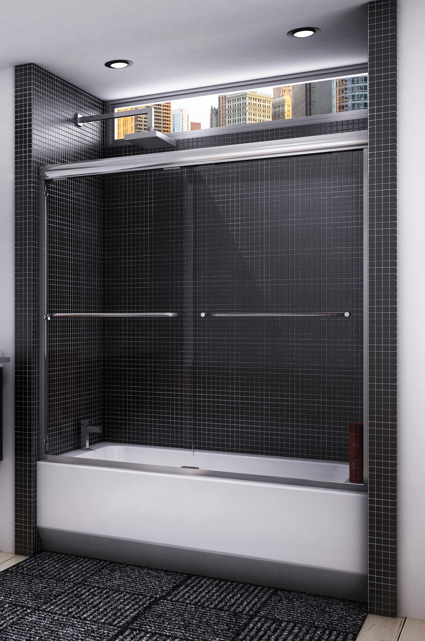 Cordoba 2 Panel Tub Enclosure Semi Frameless