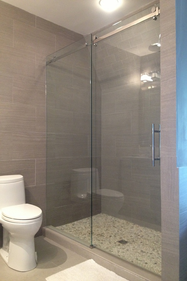 Shower enclosures sliding shower doors Bathroom glass doors design