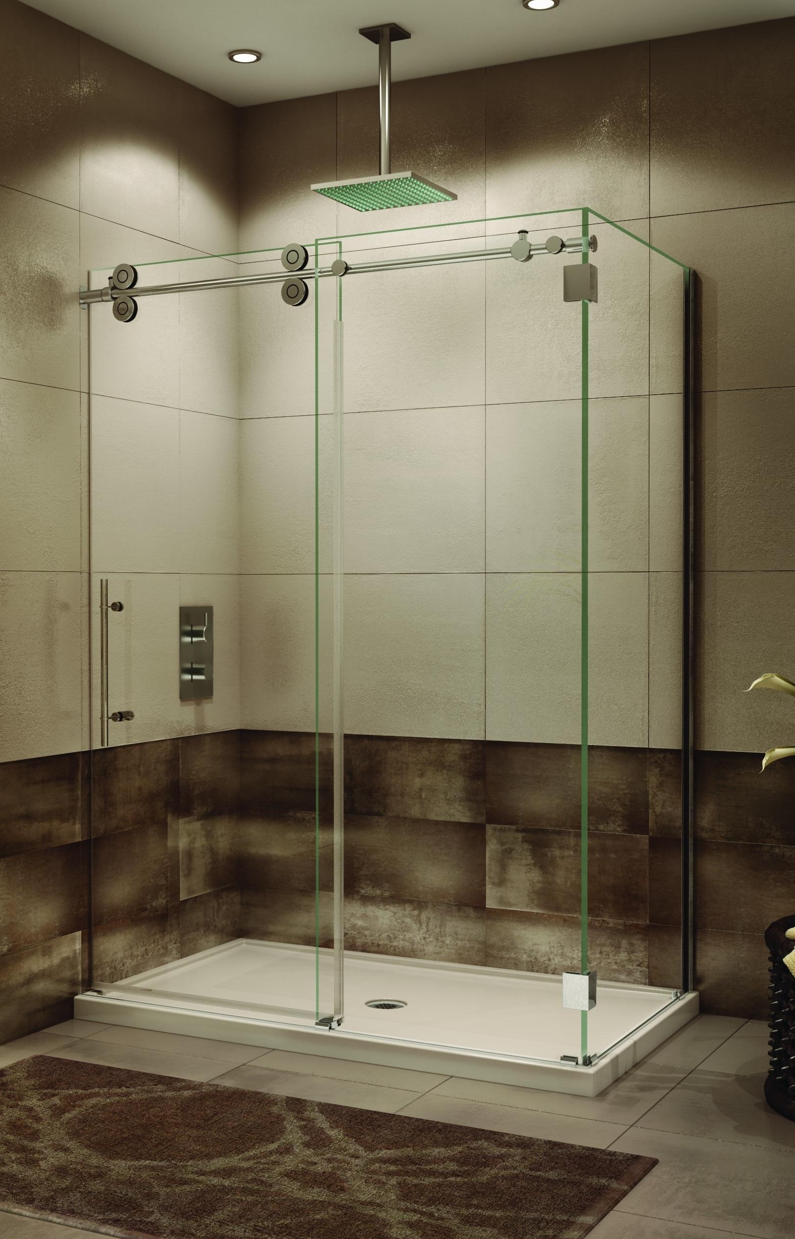 Kinetik Frameless Rectangular Shower | ArtistCraft.com