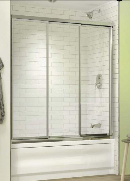 Bathtub enclosures shower doors toronto for 3 panel tub shower doors