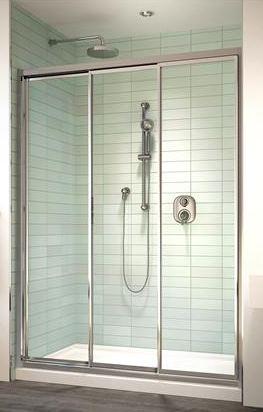 Shower enclosures sliding shower doors for 3 panel tub shower doors