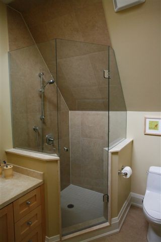 Frameless Neo Angled Shower Enclosures Glass To Ceiling ...