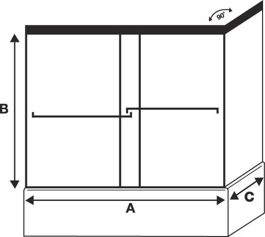 tub enclosure sliding door bottom guide