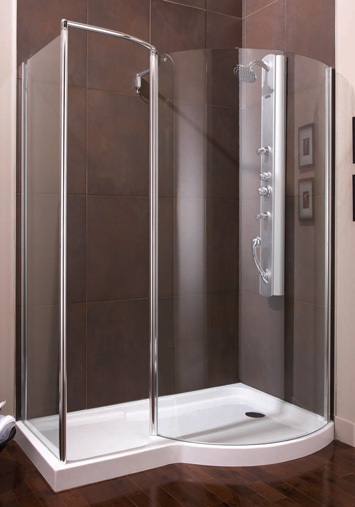 Yarra Curved Glass Shower With Return Artistcraft Com