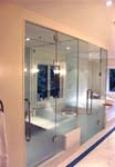 Misted Glass Steam & Toilet Partitions