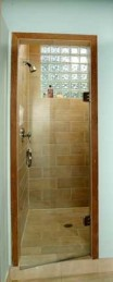 Single Clear Frameless Shower Door