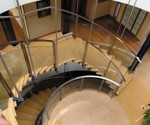 Top View Curved Glass Staircase