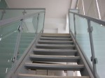 Frosted Glass With Steel Railing