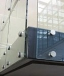 Glass Panels Secured With Standoffs