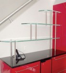 Glass Shelves Supported By Standoffs