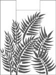 Fern on Door Between 2 panels