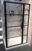 Materia Black Pivot Door